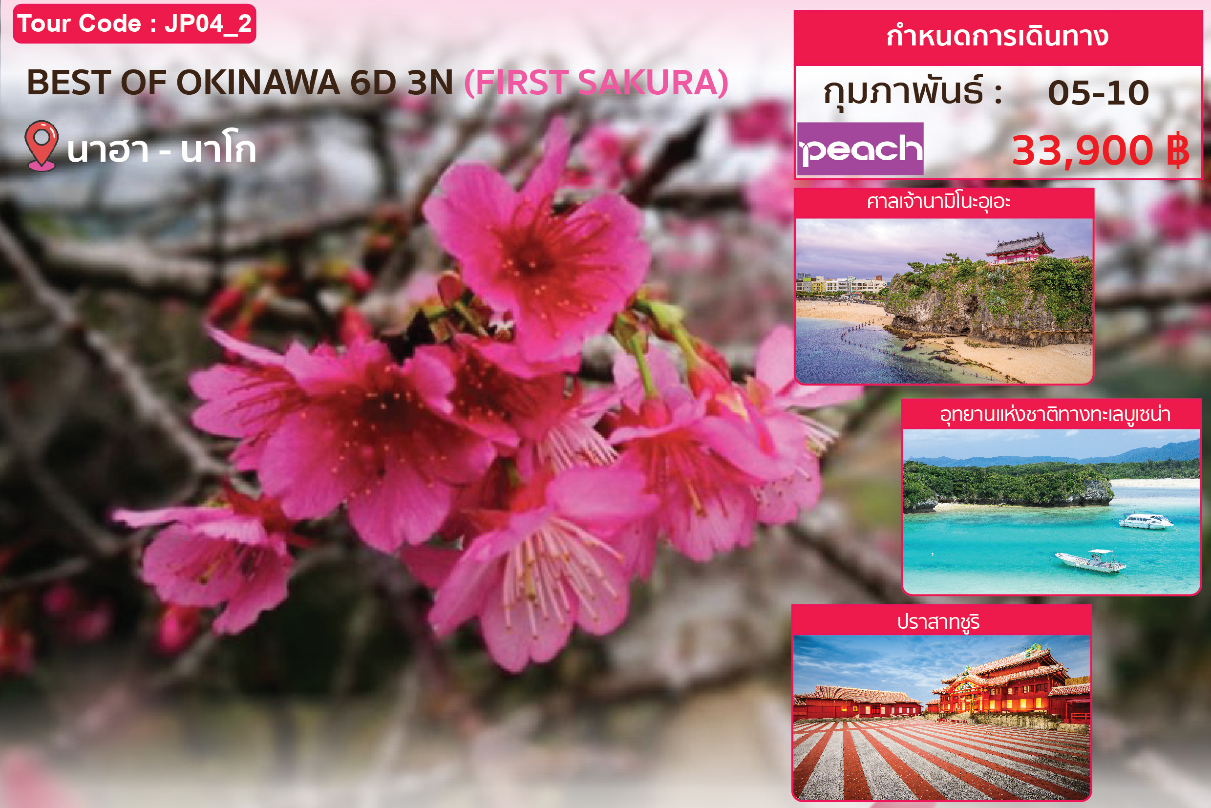 Best of Okinawa 6Days 3Nights 6 วัน 3 คืน